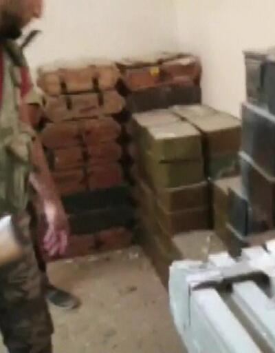 YPG'ye ait büyük silah deposu ele geçirildi