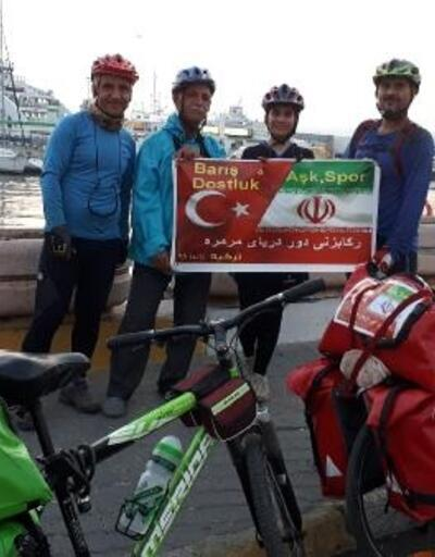Barış, dostluk, aşk ve spor için pedal çeviriyorlar