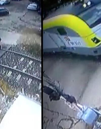 Yaşlı kadının öldüğü tren kazası kamerada