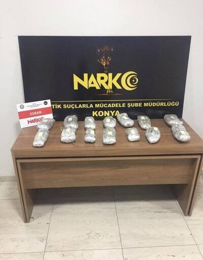 Konya'da uyuşturucu operasyonu: 16 gözaltı