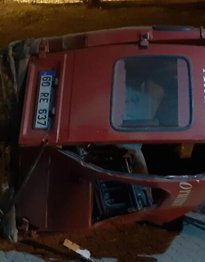 Tokat'da minibüs şarampole devrildi: 2 yaralı