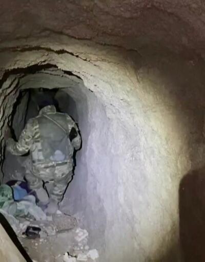 YPG'nin mayınlarla dolu tünelleri görüntülendi