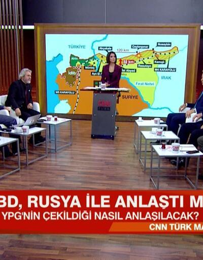 ABD, Rusya ile anlaştı mı? YPG nasıl çekilecek, çekildiği nasıl anlaşılacak?CNN TÜRK Masası'nda konuşuldu