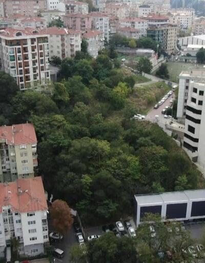 İBB'nin satışa çıkardığı arazi havadan görüntülendi