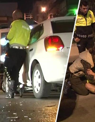 Kaza sonrası kadın sürücü, otomobile levyeyle sadırdı iddiası