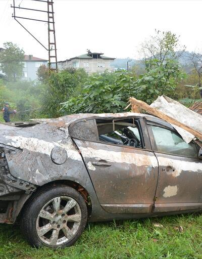 Ordu'da feci kaza: Otomobil bu hale geldi