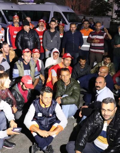 Maltepe'de taşeron temizlik işçileri iş bıraktı