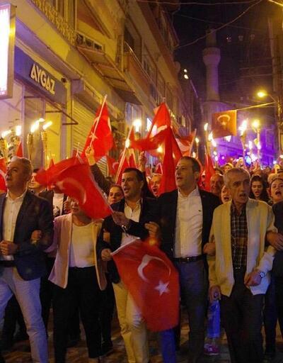Babadağ'da fener alaylı Cumhuriyet coşkusu