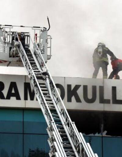 Bolu'da, özel okulda yangın