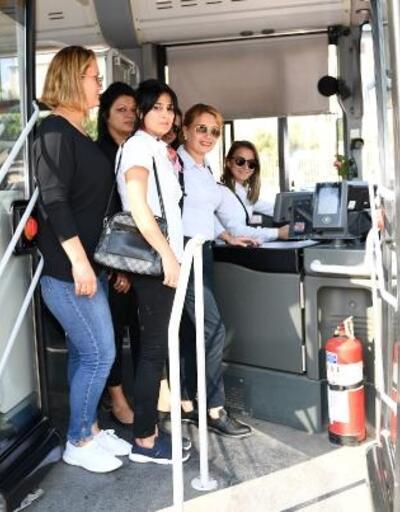 Mersin'de ulaşıma kadın eli değiyor