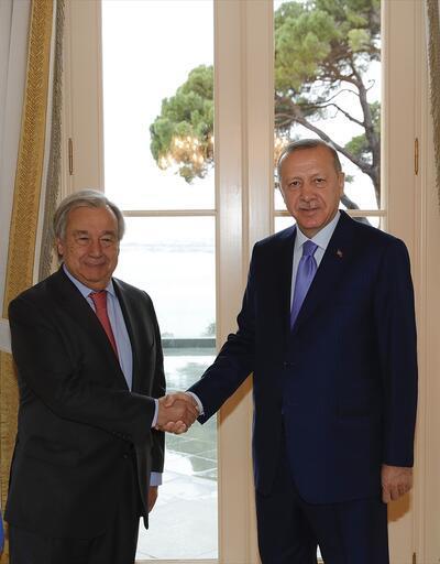 CumhurbaşkanıErdoğan, BM Genel Sekreteri Guterres'i kabul etti