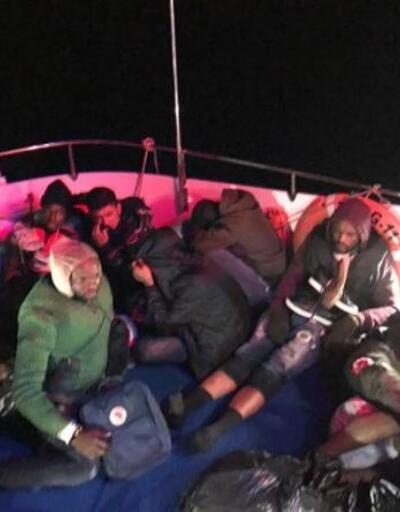 Bodrum'da lastik bottarda 18 kaçak göçmen yakalandı