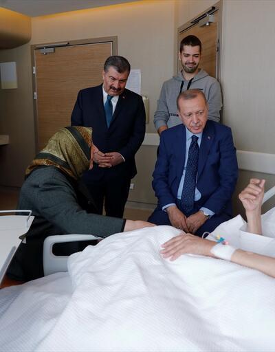 Erdoğan, hastanedeki eski Adalet Bakanı Kazan'ı ziyaret etti