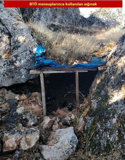 Teröristlerin kullandığı 21 mağara ve sığınak imha edildi
