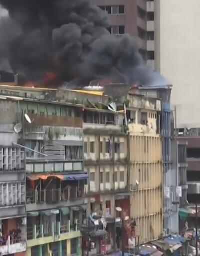 Son dakika... Nijerya'da iş hanında yangın