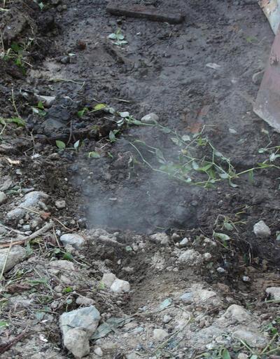 Rize'de yerden sızan buhar korkuttu