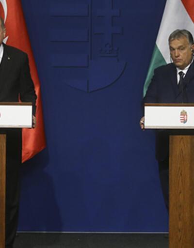 Cumhurbaşkanı Erdoğan Macaristan'da açıklamalarda bulunuyor