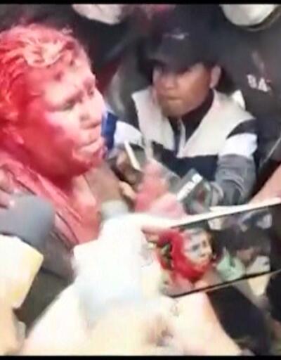 Bolivya'da belediye başkanına işkence!