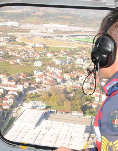 Kocaeli'ndeki 'ölüm yolu'nda helikopterli denetim