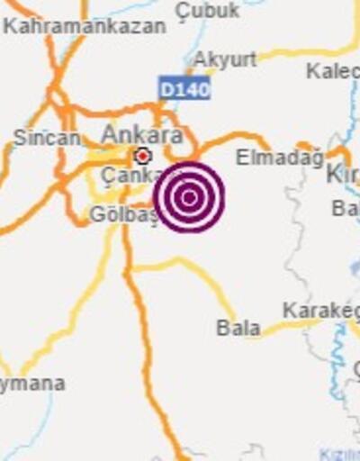 Son dakika... Ankara'da 3,4 büyüklüğünde deprem
