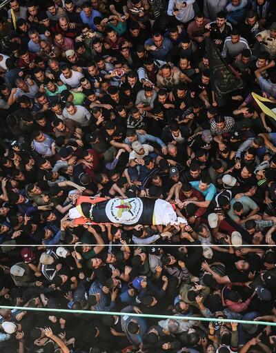 İslami Cihad'ın komutanlarından  Ebu'l Ata'nın cenazesi toprağa verildi