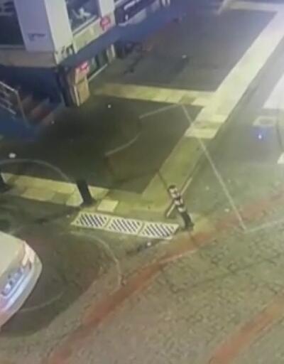 Polisle silahlı çatışmaya giren hırsızlar kamera