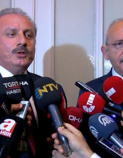 TBMM Başkanı Şentop, CHP lideri Kılıçdaroğlu'yla görüştü
