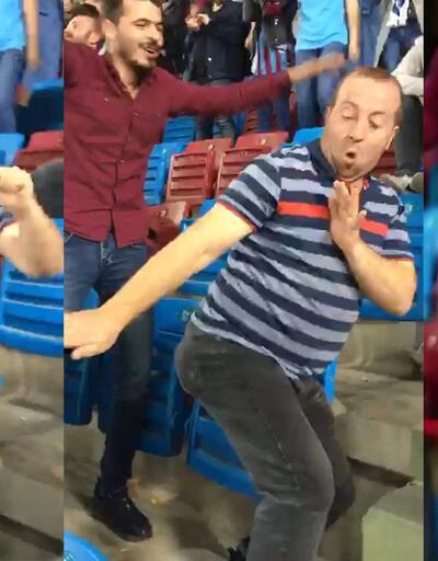 Golün ardından taraftardan ilginç dans gösterisi
