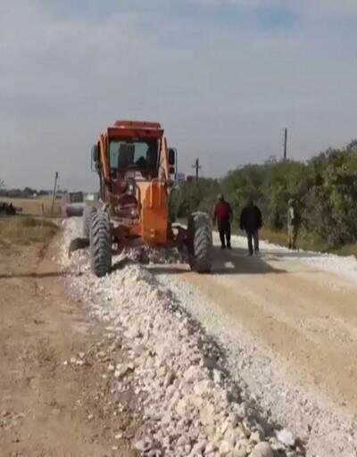 TSK ve belediyeler Tel Abyad'da yol yapıyor