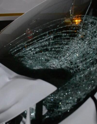 Yol kontrolü yapan uzman çavuşlara otomobil çarptı