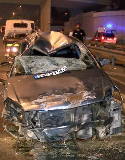 Vatan Caddesi'nde otomobil taklalar atarak karşı şeride geçti: 4 yaralı