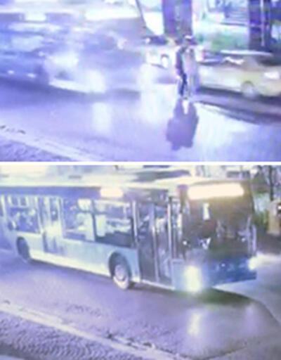 Turist çifte halk otobüsü çarptı: Metrelerce ileriye savruldular