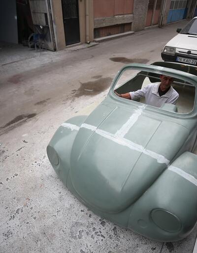 """""""Klasik araba"""" görünümlü koltuk takımı ve çalışma masası üretiyorlar"""