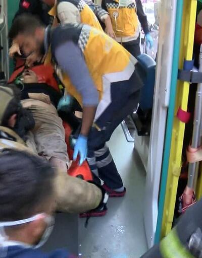 Evdeki yatalak hastayı itfaiye ekipleri kurtardı
