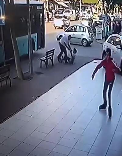 Otobüs şoförü çocuğu dövdü, esnaf da şoförü