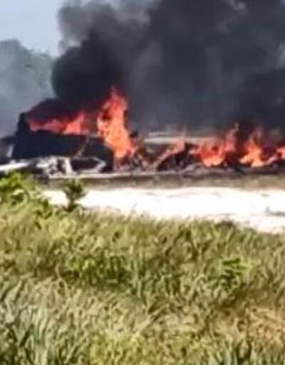 Brezilya'da özel jet düştü: 1 ölü, 9 yaralı