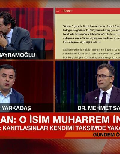 Beştepe'ye giden CHP'li iddiası! Rahmi Turan: O isim Muharrem İnce