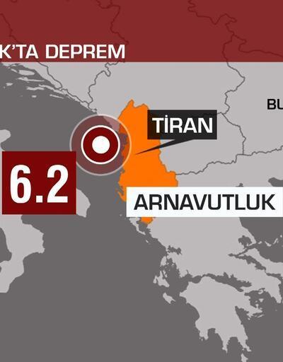 Arnavutluk'ta 6.4 büyüklüğünde deprem ile sarsıldı