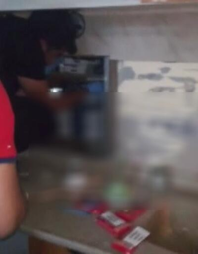 Kaçak sigara operasyonu kamerada