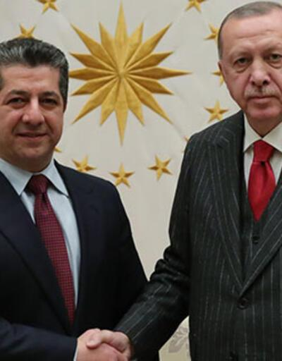 Cumhurbaşkanı Erdoğan IKBY Başbakanı Barzani'yi kabul etti