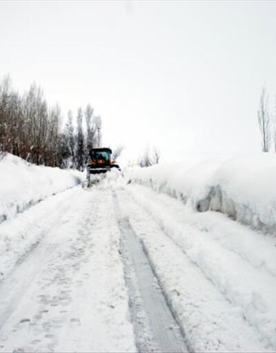 Van ve Muş'ta kardan yollar kapandı