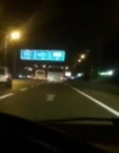 Seyir halinde video çekerken kazayı görüntüledi