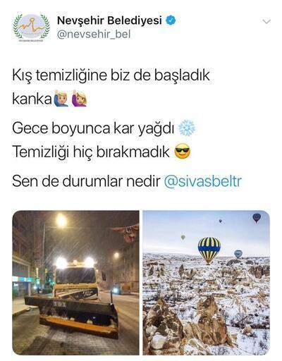 Belediyelerin Twitter'da kar diyaloğu gülümsetti