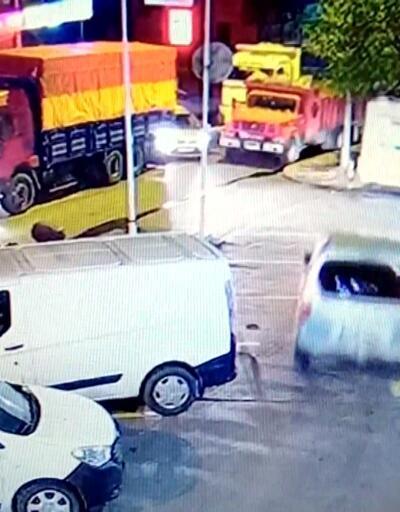 Polis hırsız kovalamacası kamerada