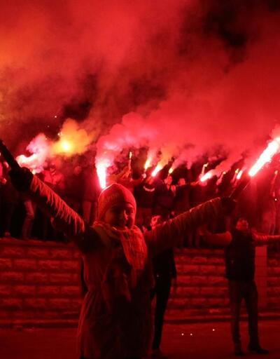 Kayserispor'a meşaleli destek