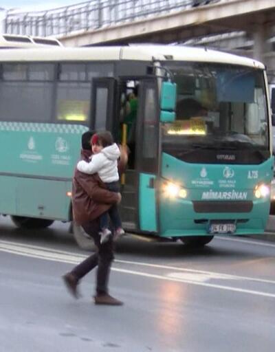 Trafiğe girmek istemeyen otobüsler durakta durmuyor
