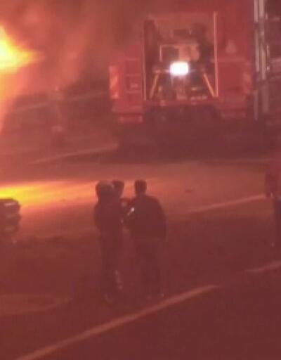 İstanbul'da köprü çıkışında yangın!