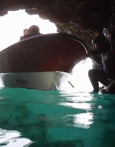 Denizin altında saklı güzellik: Gümbürdeyen Mağara