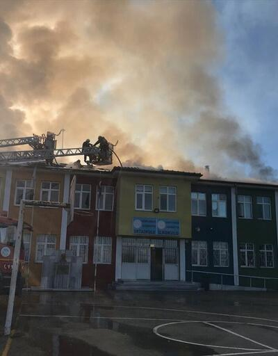 Sakarya'da okulda yangın