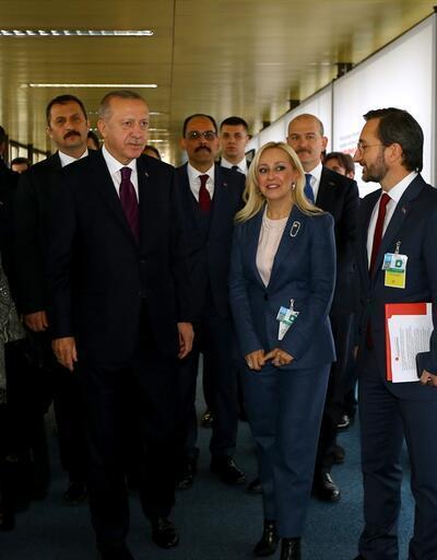 Cumhurbaşkanı Erdoğan Cenevre'de sanat sergisini ziyaret etti